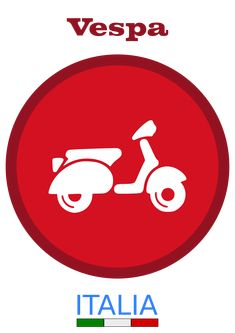 Series of illustrations on the Italian Vespa. Vespa Motorcycle, Vespa Bike, Motorcycle Logo, Motorcycle Posters, Vespa Scooters, Electric Vespa, Vespa Illustration, Vespa Logo, Red Vespa