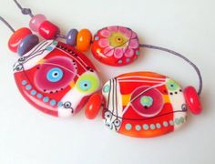 °° REMINDER FOR SUMMER °° set by jasmin french     current auction on lampwork beads for sale