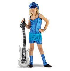 Rocker girl 3-delig pakje - maat 134/152 - blauw  Rock de sterren van de hemel met dit blauwe popster kostuum.  EUR 18.99  Meer informatie
