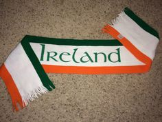 Sale Vintage IRELAND Soccer Scarf EIRE Football by casualisme