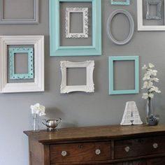 Shabby Chic Decor / 10 Piece Upcycled Distressed Custom Picture Frame Set / Hawthorne Collection / Open Frame Set Shabby Chic Decor / 11 Piece Upcycled by hydeandchicboutique Shabby Chic Kitchen, Shabby Chic Homes, Shabby Chic Decor, Rustic Decor, Rustic Style, Shabby Chic Artwork, Shabby Chic Grey, White Chic, Kitchen Decor
