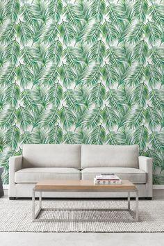 Palm feuilles autocollant papier peint papier par WallfloraShop
