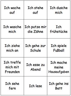 This board can be used to pair the sheet. German Grammar, German Words, Learn English Words, Opposite Words List, Reflexive Verben, German Resources, Deutsch Language, Germany Language, German English