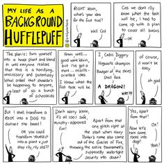 Emily's Cartoons : My Life as a Background Hufflepuff Harry Potter Comics, Harry Potter Marauders, Harry Potter Jokes, Harry Potter Universal, Harry Potter Fandom, Drarry, Background Slytherin, Hufflepuff Pride, Ravenclaw