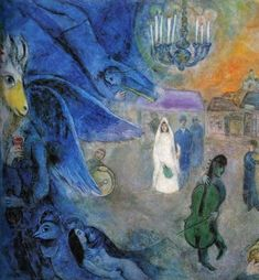 The Wedding Candles, 1945 - by Marc Chagall