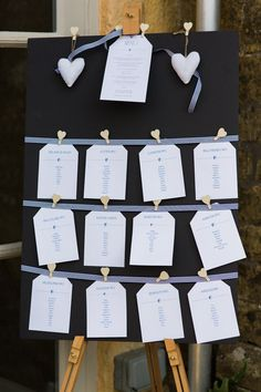 Stylish Relaxed Country Wedding Navy White Seating Plan http://www.lisadawn.co.uk/