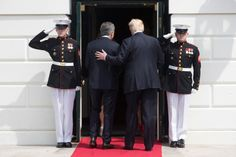 Trump hosts Argentinas President Mauricio Macri and more:...  Trump hosts Argentinas President Mauricio Macri and more: April 27 in photos  President Donald Trump and President of Argentina Mauricio Macri greet one another at the South Portico of the White House in Washington D.C.; A police forensic officer holds a knife at the scene after a man was arrested for possession of weapons Thursday near Britains Houses of Parliament in London; Lava flows down the ridges after a spectacular…