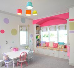 Pull out draws under window seat