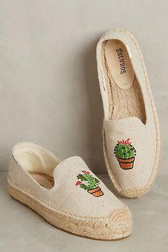 Embroidered Cactus Espadrilles - [ad]