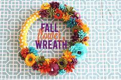 Thanksgiving Table Decor: Fall Flower Wreath {Tutorial}