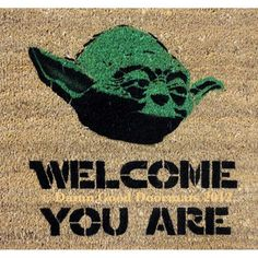 "Welcome guests with this Master Yoda mat. | 25 Ways To Make Your Home A ""Star Wars"" Heaven"