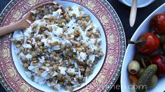 Lentil and Rice Pilaf Recipe - Armenian Cuisine - Heghineh Cooking Show