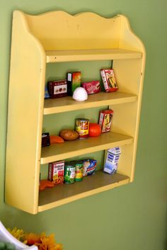 Play grocery store in kids room