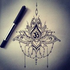 Mandala lotus aum