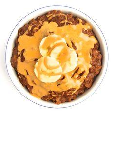 Chocolate PB Oatmeal with Bananas - The Lemon Bowl