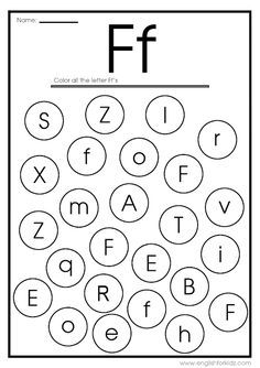 Letter F Worksheets, Flash Cards, Coloring Pages Letter Flashcards, Letter Worksheets For Preschool, Printable Alphabet Letters, Alphabet Worksheets, Printable Worksheets, Preschool Alphabet, Alphabet Tracing, Preschool Writing, Handwriting Worksheets