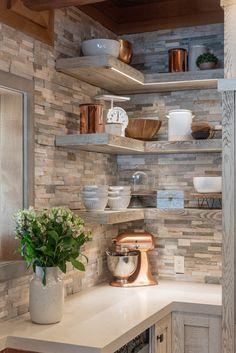 Interior Modern, Interior Concept, North Carolina Cabins, Lake Cabins, Kitchen Corner, Kitchen Photos, Coastal Homes, Rustic Kitchen, Kitchen Remodel