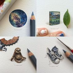 A New 100-Day Miniature Painting Project by Lorraine Loots Tackles Vintage Book Covers, the Cosmos, and Furry Animals  http://www.thisiscolossal.com/2015/04/miniature-paintings-lorraine-loots/