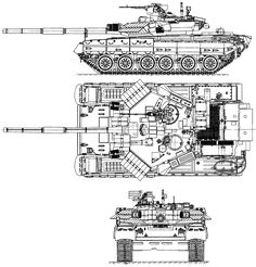 T-84 Oplot Blueprint - Download free blueprint for 3D modeling