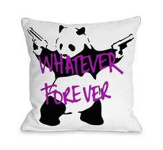 Panda Whatever Forever Throw Pillow