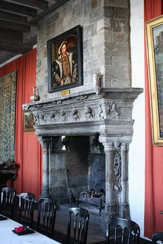 Fireplace in the Castle by taltraveltips, via Flickr