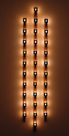 Susan Hiller - Triptych, 1991/2008 - Power strips, night lights, custom brackets and 32 35mm slides