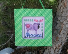 Peace Moose Cross Stitch Pattern from Designs by MixingItUpWithDBL, $5.00