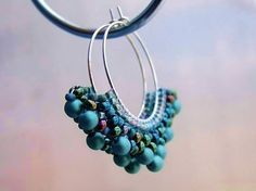 beautiful colours! When you wear these earrings, you need nothing else!