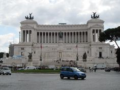 This enormous white marble monument was built as a tribute to the first King of a united Italy, Victor Emmanuel II Rome, Italy