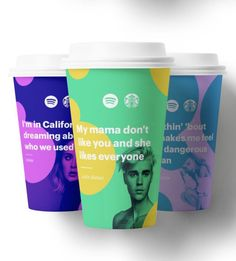 Lyrically Branded Take-Out Cups - Jack Lalley Creatively Adapted the Iconic…