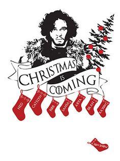Game of Thrones Christmas Card  Jon Snow door TheOneCreativeBird