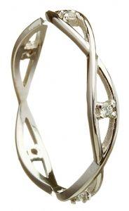 White Gold Open Weave Diamond Celtic Ring #wedding #ring #band #Irish #love #celtic #gift