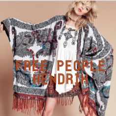 "Selling this ""Free People Hendrix Fringe Poncho nwot one size"" in my Poshmark closet! My username is: terre123. #shopmycloset #poshmark #fashion #shopping #style #forsale #Free People #Accessories"