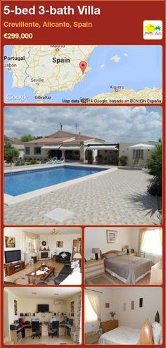 5-bed 3-bath Villa for Sale in Crevillente, Alicante, Spain ►€299,000
