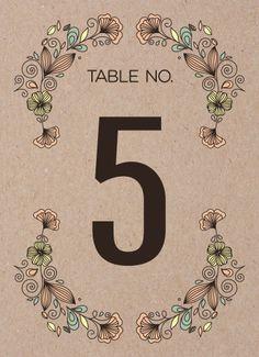 Rustic Revival Table Numbers - Hoopla House