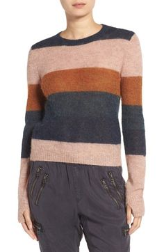 Pam & Gela Stripe Alpaca Blend Sweater available at #Nordstrom