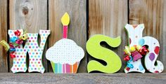 WISH Wood Letter Decor by SweetPickleDesignsCo on Etsy, $24.00