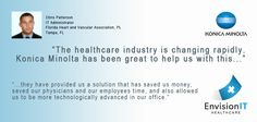 Florida Heart and Vascular Association sees 100 patients per day, but was still using a paper records system before teaming up with Konica Minolta. Through vCare, Healthflow, PageScope and their new C451 and C353 bizhub devices, the company is now saving 66% on print costs. Find out what's working for patients and healthcare employees alike! #KMBS #CountonKonicaMinolta #KonicaMinolta Konica Minolta, Clinic, Budgeting, Health Care, Management, Florida, Technology, Paper, Heart