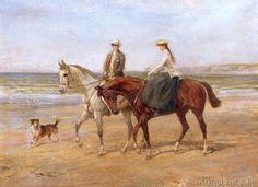 Heywood Hardy - Riders on the Shore