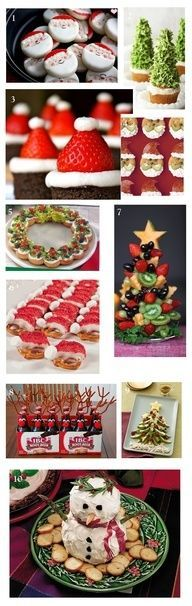 Christmas Party Food Ideas - Appetizers and Desserts.