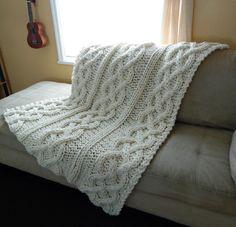 Manta de tricô para poltrona e sofá.