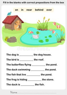 Fill In The Blanks With Correct Prepositions Stock Vector - Illustration of hobby, page: 80267451