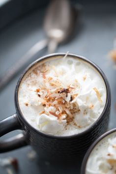Coconut White Hot Chocolate Recipe - Lemons for Lulu - Food and Recipe Blog
