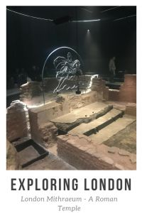 Exploring London: London Mithraeum. A roman temple in the heart of the city of London. This is a free attraction.