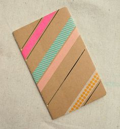 Washi tape notebooks for back to school