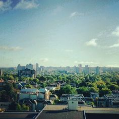 View of UOttawa campus and Ottawa neighbourhoods of Sandy Hill and Vanier from my window