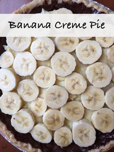 Chocolate Glazed Banana Creme Pie from Finding Baker's Bliss!