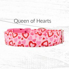 Valentine Hearts Dog Collar, Martingale Dog Collars Available With Upgrade, Up To Inch Width Dog Collar, All Collars Are Adjustable - Excited to share this item from my shop: Valentine Hearts Dog Collar, Martingale Dog Collars - Plaid Dog Collars, Pet Collars, Valentine Hearts, Valentine Dog, Dog Harness, Dog Leash, Martingale Dog Collar, Dog Clothes Patterns, Dog Dresses