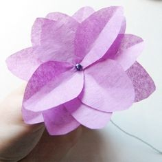 Make your own tissue paper flowers, post contains  templates and instructions.