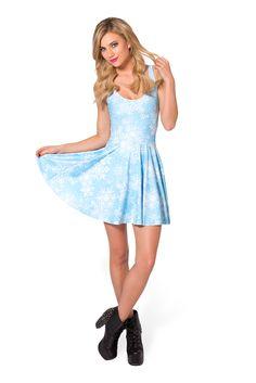 Snowflake Scoop Skater Dress (48HR) by Black Milk Clothing $85AUD